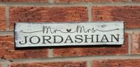 Top Table Rustic Wedding Sign Vintage Wooden Mr and Mrs Personalised Gift