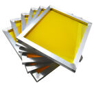 6 pcs Stretched Aluminum Screen Frame with Screen Mesh Silk Screen Printing Tool