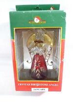 KURT ADLER Crystal Birthstone Angel JANUARY Holiday Home Decor