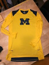 $80 Fast Ship Nike UofM Michigan Wolverines Player Issue Pre-Game Ls Jersey Top