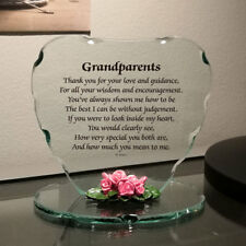 Special Friend Gift Present for Christmas Unusual Cut Glass Poem Plaque #8