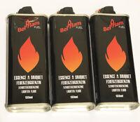 Lot de 3 Recharge Essence Briquet Zippo Compatible 133ml Belflam PROMO