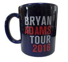 Bryan Adams Get Up Tour 2016 Navy Blue Tea Ceramic Coffee Mug New Official Rare
