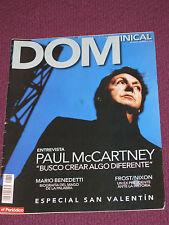 BEATLES: PAUL McCARTNEY ENTREVISTA REVISTA / MAGAZINE FEBRERO 2009 EL PERIODICO