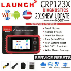 LAUNCH X431 CRP123X OBD2 Scanner ABS SRS Read Clear Fault Auto Code Reader Tool