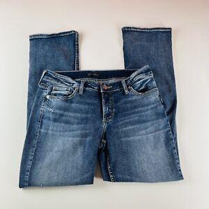 Silver Jeans Elyse Slim Boot Medium Wash Stretch Womens Size 31x31