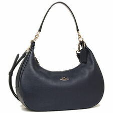 NWT Coach Pebble Leather EW Hobo Handbag in Midnight F 38250 $375