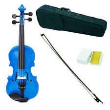 *GREAT GIFT* Children's 1/10 Size Blue Violin w Rosin, Cute Violin Case and Bow
