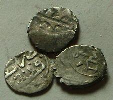 Lot original Islamic silver akce coins brockage Ottoman Empire Sultan u identify