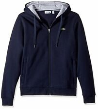 Lacoste - Men's SPORT Full-Zip Fleece Hoodie - Navy Blue/Silver Chine, XL