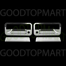 FOR GMC YUKON 92-99 CHROME 2 DOORS HANDLES COVERS W/ PASSENGER KEYHOLE