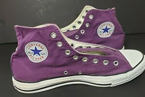 Converse All Star High Top Men's 10 Women's 12 Purple Canvas Athletic Sneakers