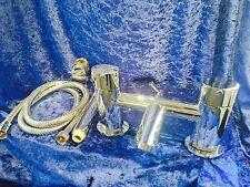Hudson Reed Cera Bath Shower Mixer, Chrome, Complete With Hose, Handset,Brkt
