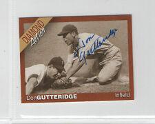 Don Gutteridge Diamond Action signed autographed auto card St. Louis Cardinals