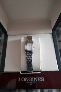 Immaculate Longines Ladies Dolce Vita White Dial Boxed Papers Link Orig Receipt