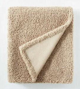 "THRESHOLD & STUDIO MCGEE Boucle Throw Blanket with Plush Reverse 50""x60"" Beige"