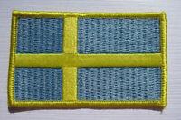 Schweden Sweden Flagge Aufnäher Patch 5 x 8 cm NEU (A54v)