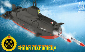 """Russian Nuclear Submarine Toy """"Ilya Muromets"""" with Torpedo Apparats and Targets"""