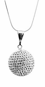 "Gorgeous""Disco Ball"" Cubic Zirconia Crystal Pendant"