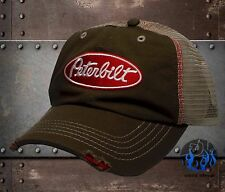 New Peterbilt Trucking Frayed Visor Mesh Trucker Mens Cap Hat