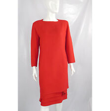 Versace Red Wool Vintage Dress