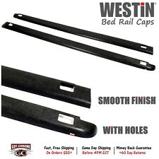 72-41441 Westin Black Bed Rail Caps Dodge Ram 8' Bed 2002-2008