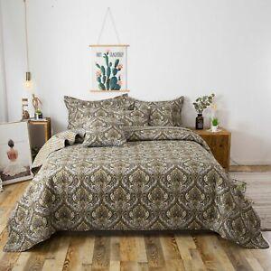 Tache Colorful Floral Patchwork Paisley Damask Lightweight Bedspread Set
