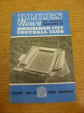 23/03/1963 Birmingham City v Sheffield United  (Creased). Thanks for taking the