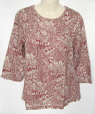 WHITE STUFF Women's Floral 3/4 Sleeve Sleeve Kaftan Tops & Shirts