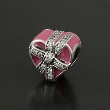 Authentic Pandora Silver Gifts of Love Enamel Magenta Bead 792047CZ