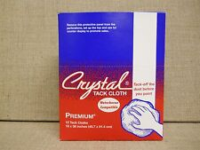"CRYSTAL PREMIUM TACK CLOTHS  Box Of 12  18"" x 36"" Leaves No Residue USA Made !"