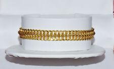 Vintage Italian Milor 750 18K Solid Gold Braided Link Chain Bracelet 7.5 Inch