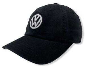 Volkswagen VW Men's Official Licensed Logo Strapback Hat Cap - Black
