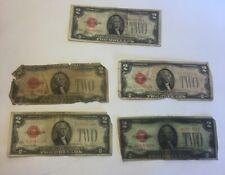 1928 2 Dollar Bill Lot Of 5