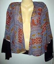 STYLE & CO. - NEW _SHEER -  POLYESTER OPEN JACKET - WIDE SLEEVES - LARGE