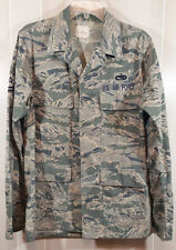 Mens Air Force Utility Uniform Top Jacket 36R LSleeve Camouflage Military MS118