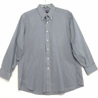 Kirkland Non-Iron Shirt Mens Size 17 33 Checked Long Sleeve Button Front