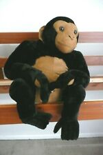 Rare Hard to Find Melissa Doug Plush Chimpanzee Tan/Black EU Condition #2171