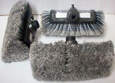 "Three Soft Bristles 10"" Quad Head Car Truck RV Wash Brush Head w/ Soap Dispenser"