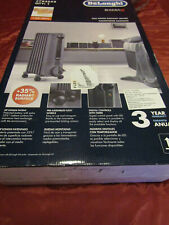 DeLonghi Space Heater Electric 1500-Watt Oil-filled Radiator Compact Thermostat