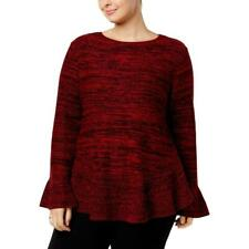 Style & Co 99$ Ruffle-Trimmed Pullover Red Sweater Size XXL