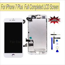 "White LCD Touch Screen Lens Digitizer For iPhone 7 Plus 5.5"" + Camera Assmebly"