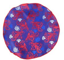 Lord R Colton Masterworks Pocket Round Positano Blue Floral Silk $75 Retail New