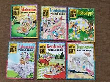 lot 6 Which Way Usa highlights puzzle book southern states Geography home school