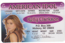 Kelly Clarkson novelty collectors card Drivers License