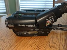 Sony HandyCam 8 mm Camcorder with Case, New Battery, and extras