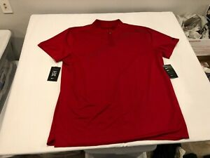 NWT $85.00 Nike Golf Mens TW Tiger Woods Collection Blade SS Polo Red Size LARGE