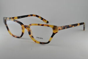 Prada Eyeglasses PR04XV 7S01O1 Medium Havana, Size 54-18-140