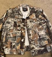 Mens Jean Jacket BDG Print Jean Jacket Coat Denim Jacket Size Small Jacket