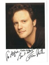 Colin Firth Signed 4 x 6 Photo / Autographed